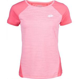 Lotto TOP TEN W II TEE PL růžová XL - Dámské tenisové tričko