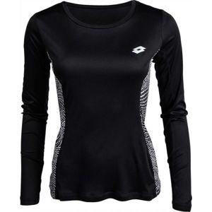 Lotto X-RUN TEE PRT LS PL W černá XS - Dámské sportovní triko