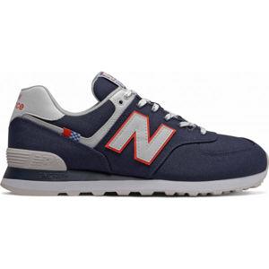 New Balance ML574SOP tmavě modrá 9.5 - Pánská volnočasová obuv