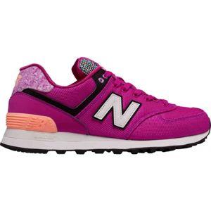 New Balance WL574ASD růžová 4.5 - Dámská volnočasová obuv