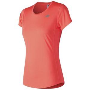 New Balance WT73128 oranžová L - Dámské běžecké triko