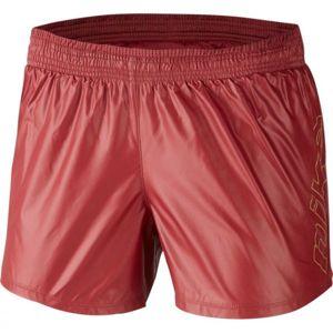 Nike 10K SHORT GLAM GX W červená M - Dámské běžecké šortky