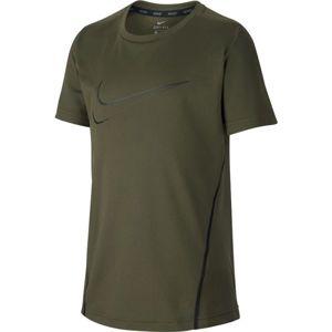 Nike NK DRY TOP SS tmavě zelená XS - Chlapecké sportovní triko