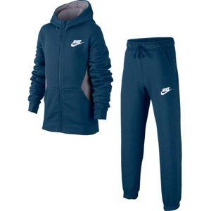 Nike NSW TRK SUIT BF CORE modrá S - Chlapecká souprava