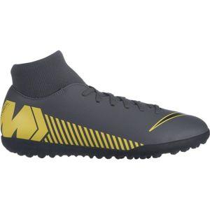 Nike MERCURIALX SUPERFLY VI CLUB TF žlutá 8.5 - Pánské turfy