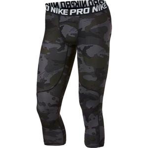 Nike NP TGHT 3QT 2L CMO šedá S - Pánské 3/4 legíny