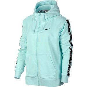 Nike NSW HOODIE FZ LOGO TAPE světle zelená L - Dámská mikina