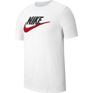 Nike NSW TEE BRAND MARK M bílá XL - Pánské tričko