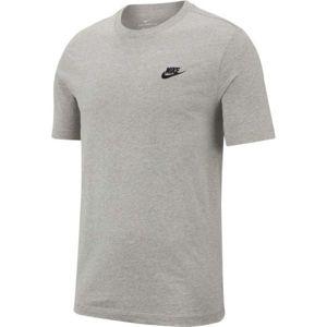 Nike SPORTSWEAR CLUB šedá XL - Pánské tričko