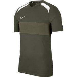 Nike DRY ACD TOP SS SA M tmavě zelená XL - Pánské fotbalové tričko