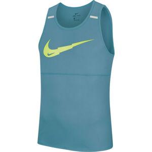 Nike BRTHE RUN TANK WR GX M modrá XL - Pánské běžecké tílko