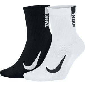 Nike MULTIPLIER bílá S - Běžecké ponožky
