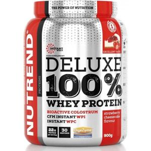 Nutrend DELUXE 100% WHEY 900G JAHODOVÝ CHEESECAKE  NS - Protein