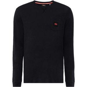 O'Neill LM THE ESSENTIAL L/SLV T-SHIRT černá M - Pánské tričko s dlouhým rukávem