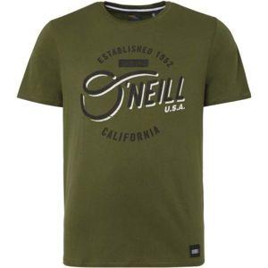 O'Neill LM MALAPAI CALI T-SHIRT tmavě zelená L - Pánské tričko