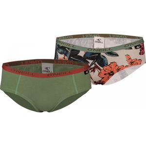 O'Neill HIPSTER FLOWERS SEASON tmavě zelená XL - Dámské kalhotky