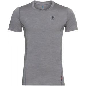 Odlo SUW MEN'S TOP CREW NECK S/S NATURAL+ LIGHT šedá M - Pánské tričko