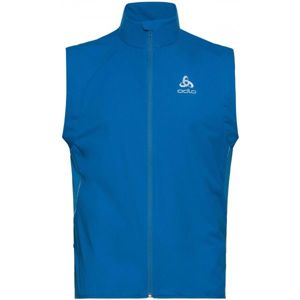 Odlo MEN'S VEST ZEROWEIGHT WINDPROOF WARM modrá M - Pánská vesta