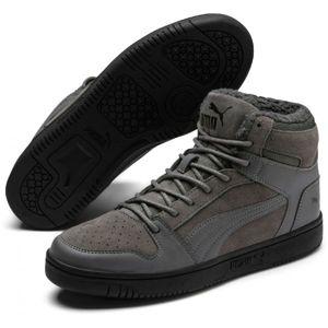 Puma REBOUND LAYUP SD FUR bílá 7.5 - Pánská volnočasová obuv