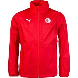 Puma LIGA TRG RAIN JKT SLAVA červená L - Pánská sportovní bunda