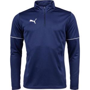 Puma TEAMGOAL 1 4 ZIP TOP CORE tmavě modrá M - Pánská sportovní mikina