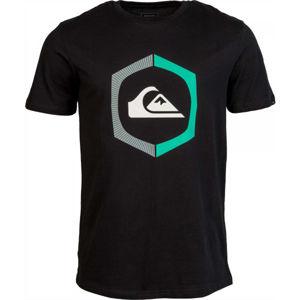 Quiksilver SURE THING SS černá S - Pánské tričko
