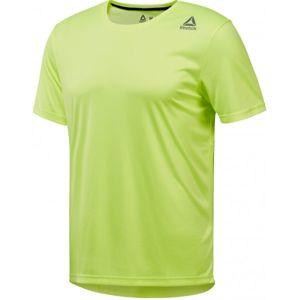 Reebok RUN SS TEE M světle zelená L - Pánské sportovní tričko
