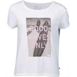 Roxy TALK ABOUT IT bílá L - Dámské tričko