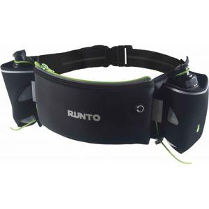 Runto DUO opasek + 2 lahvicky černá NS - Sportovní bederní opasek