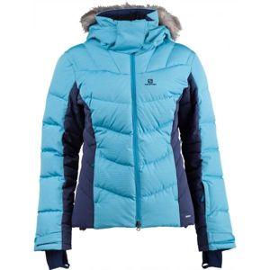 Salomon ICETOWN JKT W modrá XL - Dámská zimní bunda