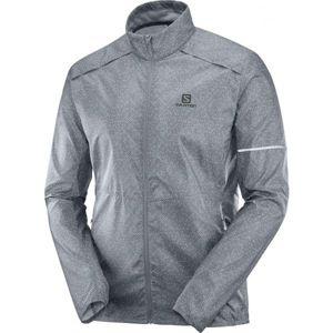 Salomon AGILE WIND JKT M šedá M - Pánská běžecká bunda