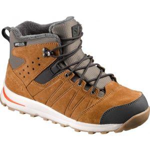 Salomon UTILITY TS CSWP J hnědá 33 - Juniorská zimní obuv