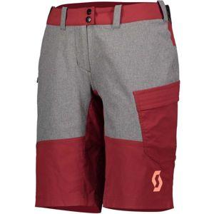Scott TRAIL FLOW W/PAD W červená L - Dámské šortky