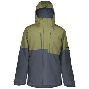 Scott ULTIMATE DRYO 10 JACKET tmavě zelená S - Pánská lyžařská bunda