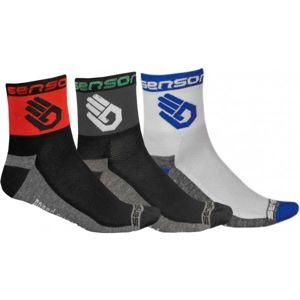 Sensor 3-PACK RUKA černá 3-5 - Cyklistické ponožky