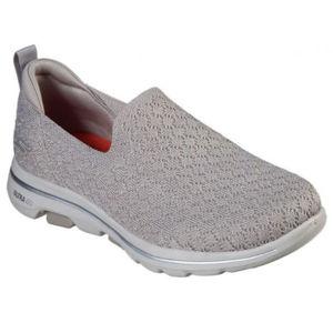 Skechers GO WALK 5 BRAVE šedá 40 - Dámské nazouvací boty