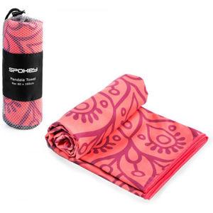 Spokey MANDALA 80x160CM oranžová NS - Rychleschnoucí ručník