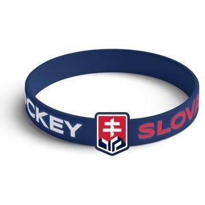 Střída SILIKONOVY NARAMOK VYSTOUPLE LOGO SLOVAKIA HOCKEY modrá NS - Silikonový náramek
