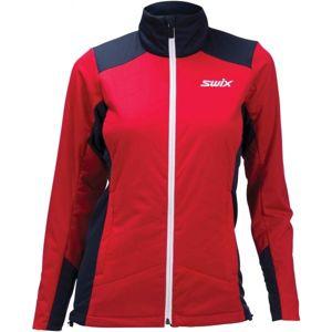 Swix POWDERX červená M - Teplá dámská bunda na běžecké lyžování