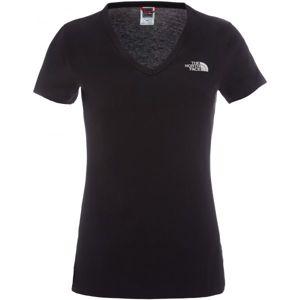 The North Face S/S SIMPLE DOM TEE černá XS - Dámské tričko