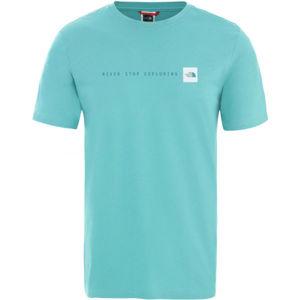 The North Face NSE TEE modrá S - Pánské triko s krátkým rukávem