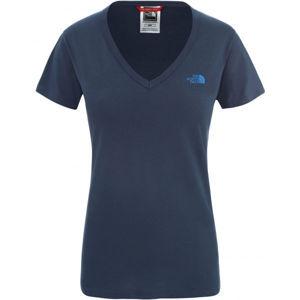 The North Face SIMPLE DOM TEE tmavě modrá XL - Dámské tričko