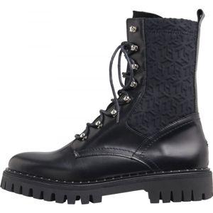 Tommy Hilfiger MATERIAL MIX TH BOOTIE  40 - Dámské kožené boty