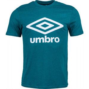 Umbro FW LARGE LOGO COTTON TEE zelená XL - Pánské tričko