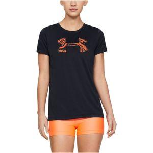 Under Armour TECH SSC GRAPHIC černá M - Dámské tričko