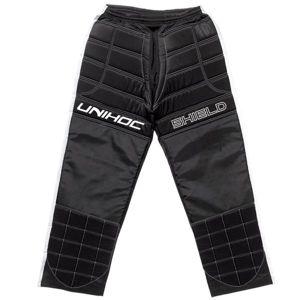 Unihoc SHIELD PANTS černá M - Florbalové brankářské kalhoty