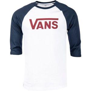 Vans MN VANS CLASSIC RAGLAN bílá S - Pánské tričko s 3/4 rukávem